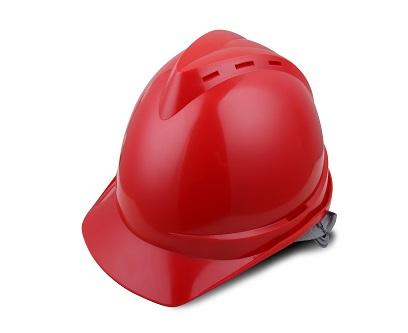 V顶ABS透气安全帽-红色