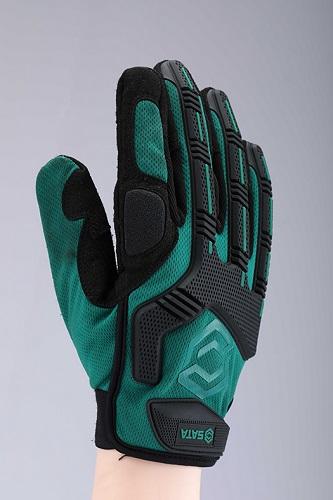 世达绿机械型防冲击手套9