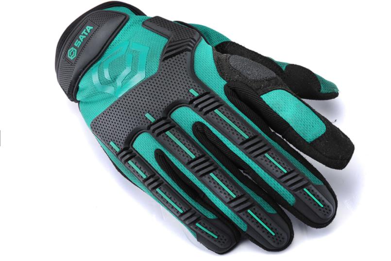 世达绿机械型防冲击手套