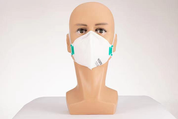 HF0203蚌型折疊式防塵口罩(頭戴式)