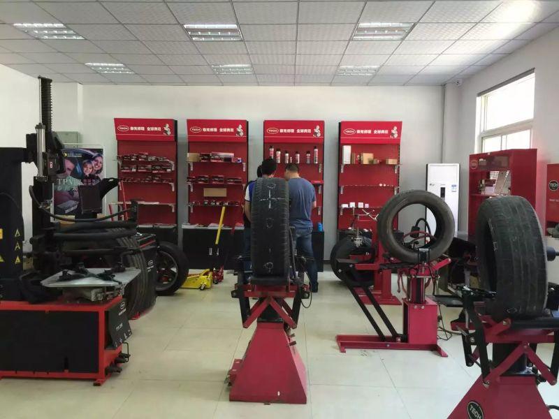 2月15日武汉泰克公司轿车胎车胎修理培训日