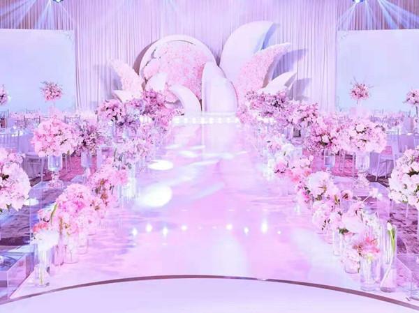 咸陽粉色浪漫婚場布置
