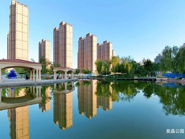 石家庄老年公寓毗邻公园实景照