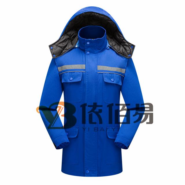 北京蓝色棉服定制