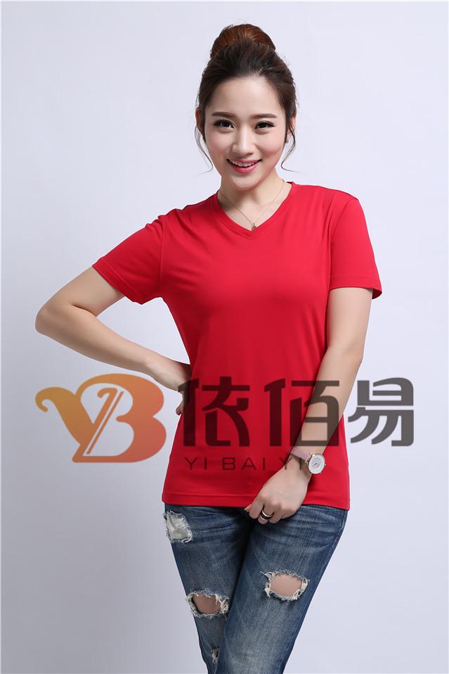 红色纯棉文化衫定制