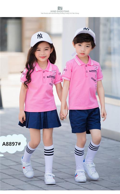 粉色幼儿园校服