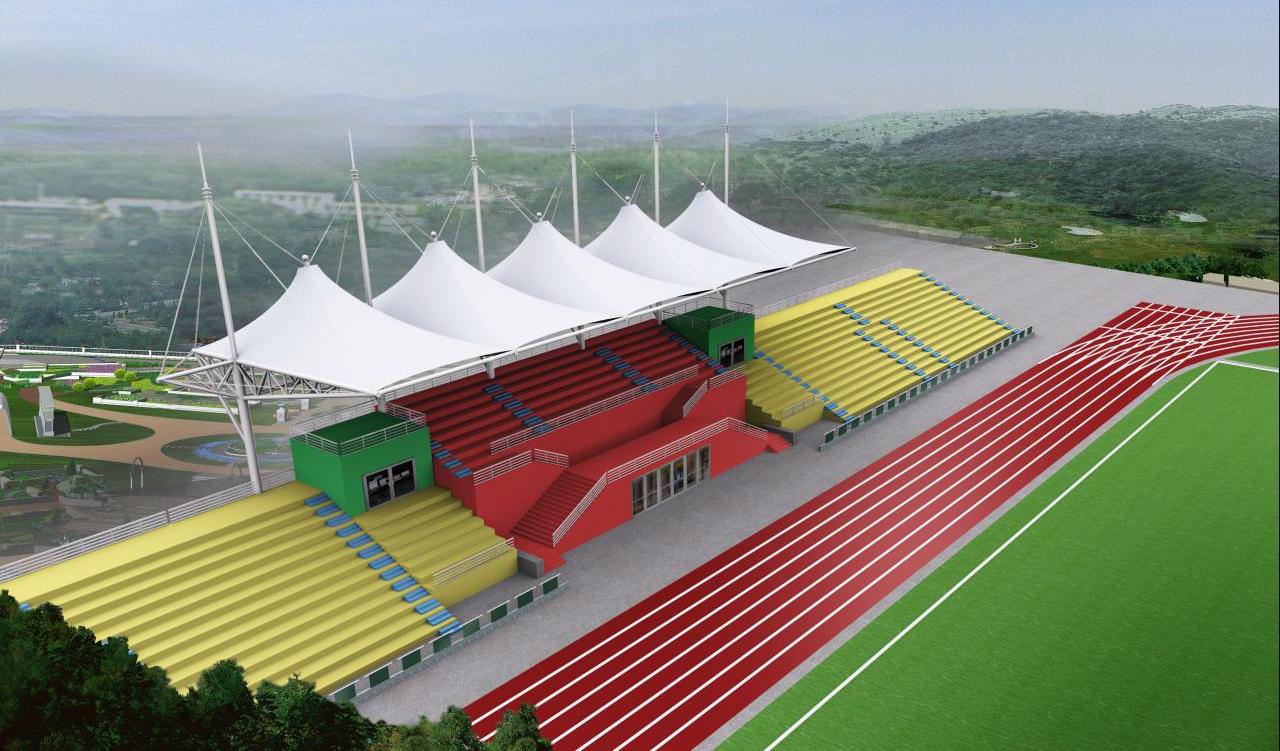 双鸭膜结构体育场看台