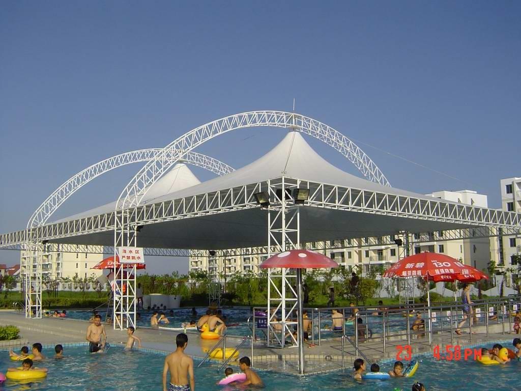 吉林膜结构泳池遮阳