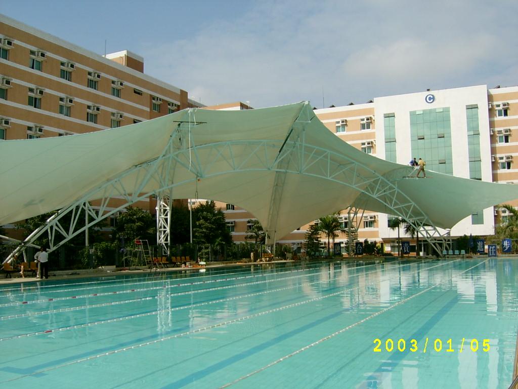 江苏膜结构泳池遮阳