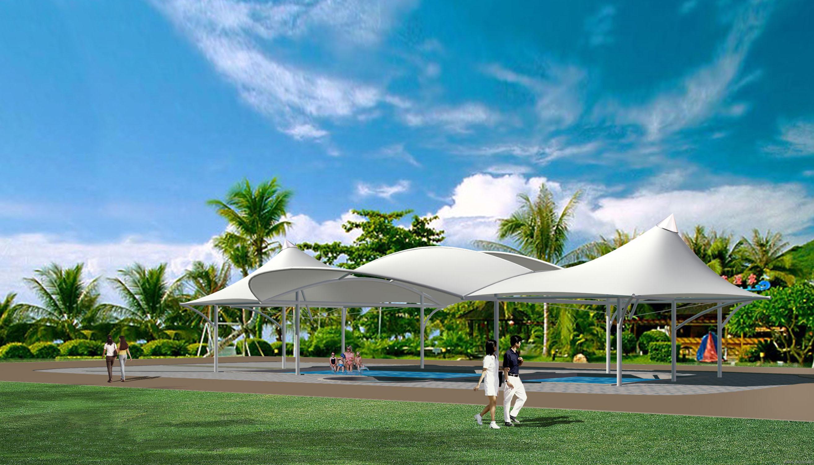 无锡膜结构泳池遮阳
