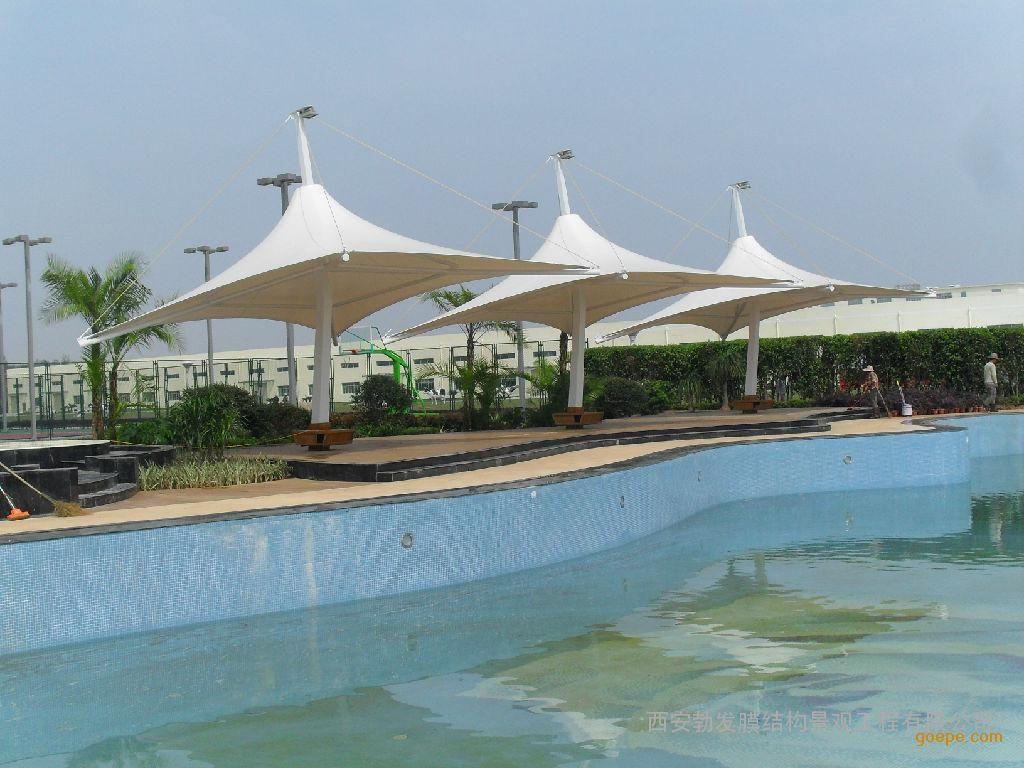 扬州膜结构泳池遮阳