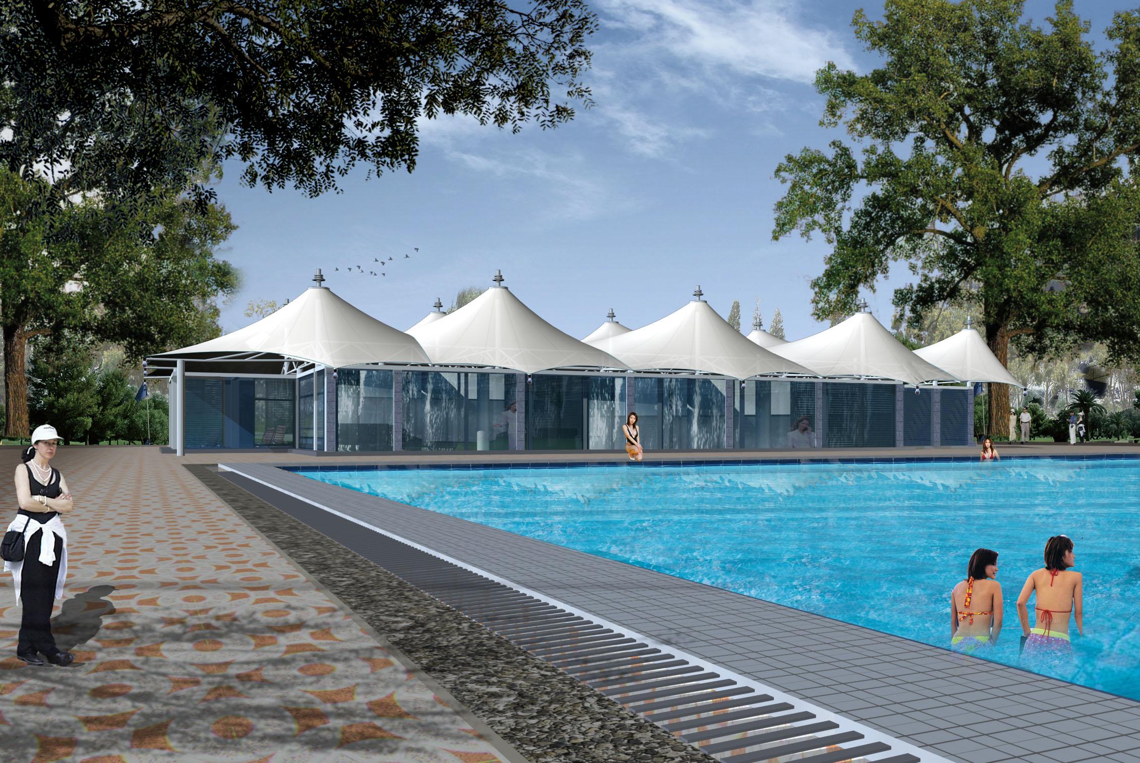 徐州膜结构泳池遮阳