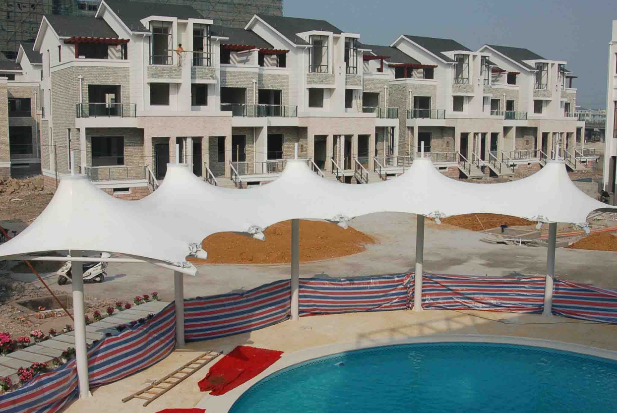 绍兴膜结构泳池遮阳