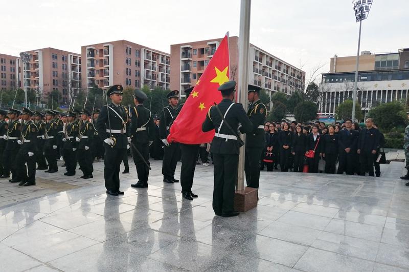 國旗班升旗展示