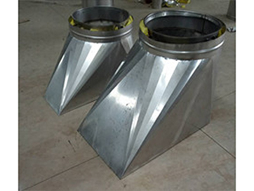 双层不锈钢烟囱(斜天圆地方)