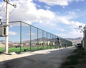体育馆护栏网施工现场