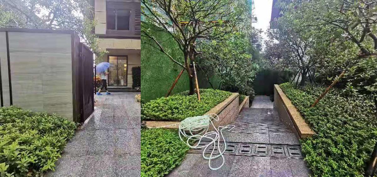 三盛亭江叠拼样板房景观工程