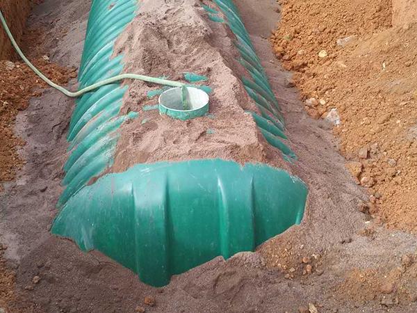 福州建發中心三格化糞池安裝圖片