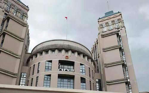 福州市检察院电动带国歌旗杆