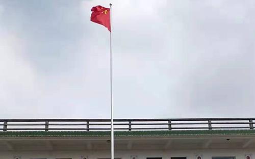 福清前庄小学不锈钢旗杆