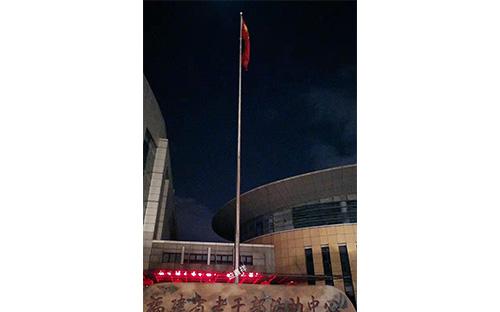 福建省老干部活動中心不銹鋼錐形旗桿