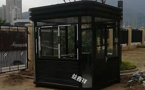 莆田荔城九華路陽光城檀悅不銹鋼氟碳漆崗亭