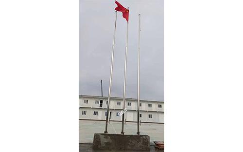 福州仓山跃进小学不锈钢变径旗杆