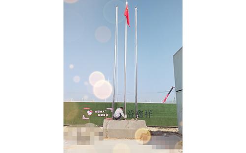 福州臺江新港路透堡建筑公司不銹鋼變徑旗桿