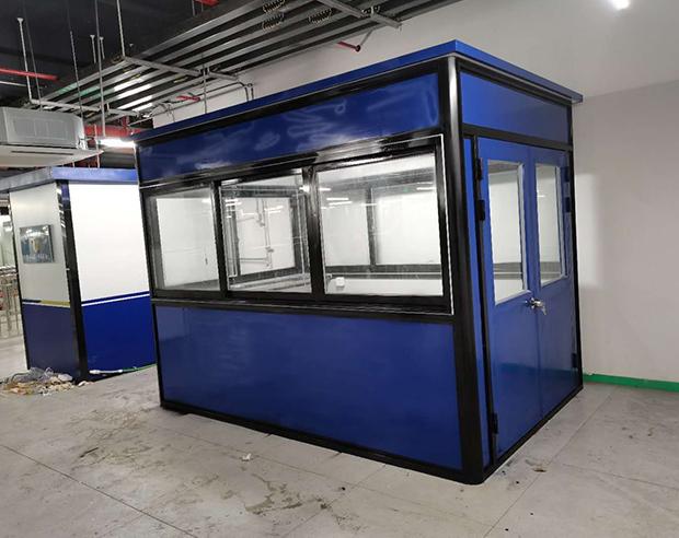 福州火車站廣場速8酒店彩鋼板氟碳漆崗亭竣工了