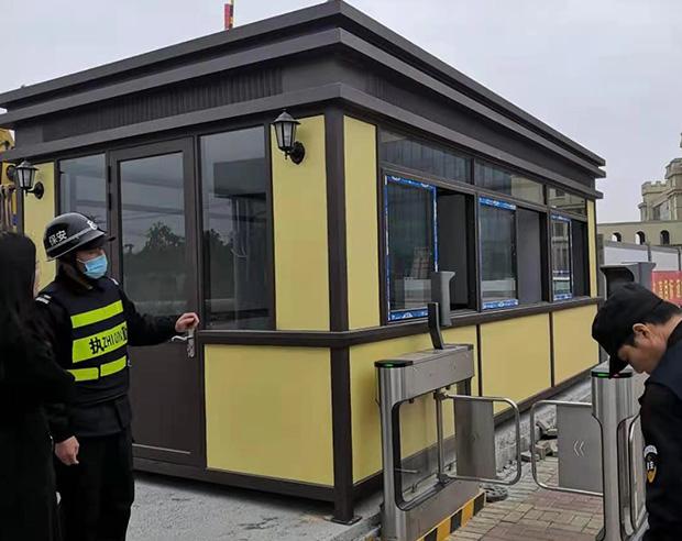 福州市長樂福建軟件職業技術學院新校區鋼結構藝術崗亭