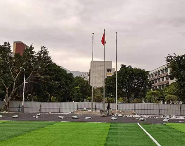 福州鼓山格致中学 不锈钢锥形电动旗杆