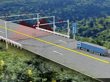 公路(桥梁)货运车辆超限超限不停车监测系统