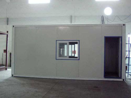 彩钢板岩棉夹心活动板房