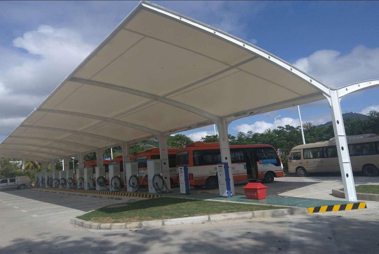 膜结构停车棚的材料如何剪裁