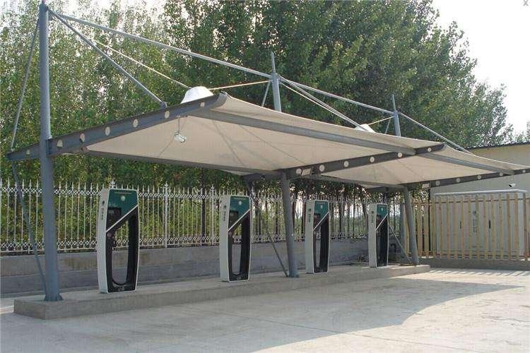 膜結構充電樁車棚