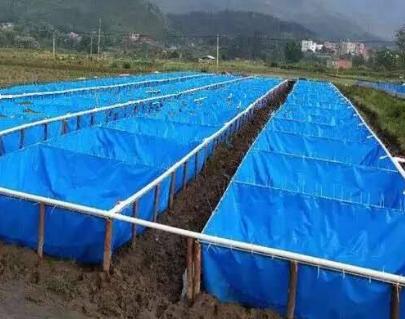 防水布水池