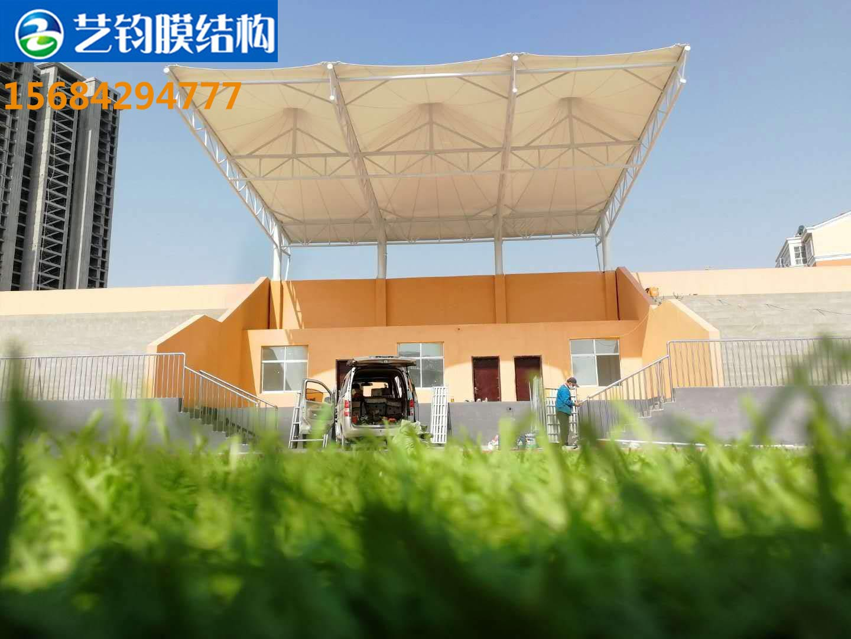 菏泽鄄城小学膜结构看台案例