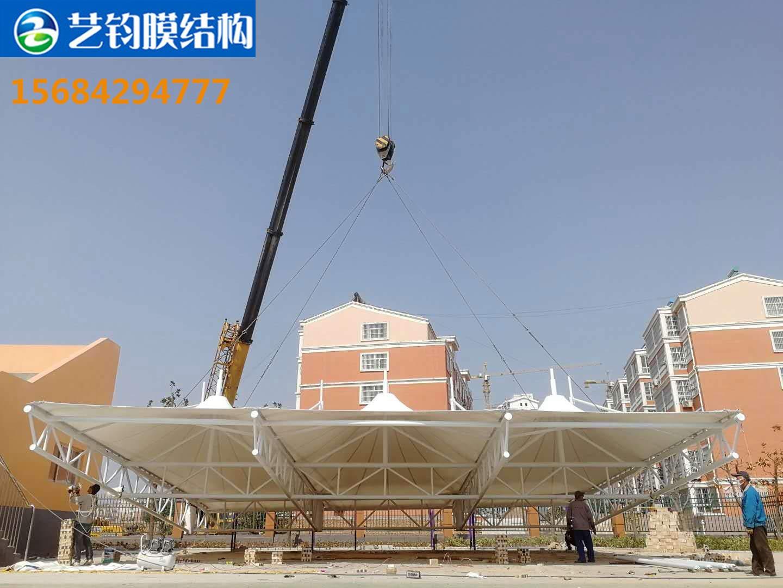 菏泽鄄城小学膜结构看台案例展示