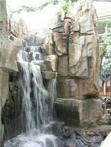 人工瀑布假山