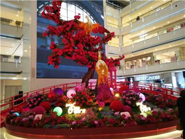 植物雕塑凤凰