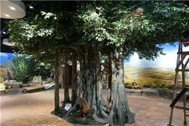 室内水泥树
