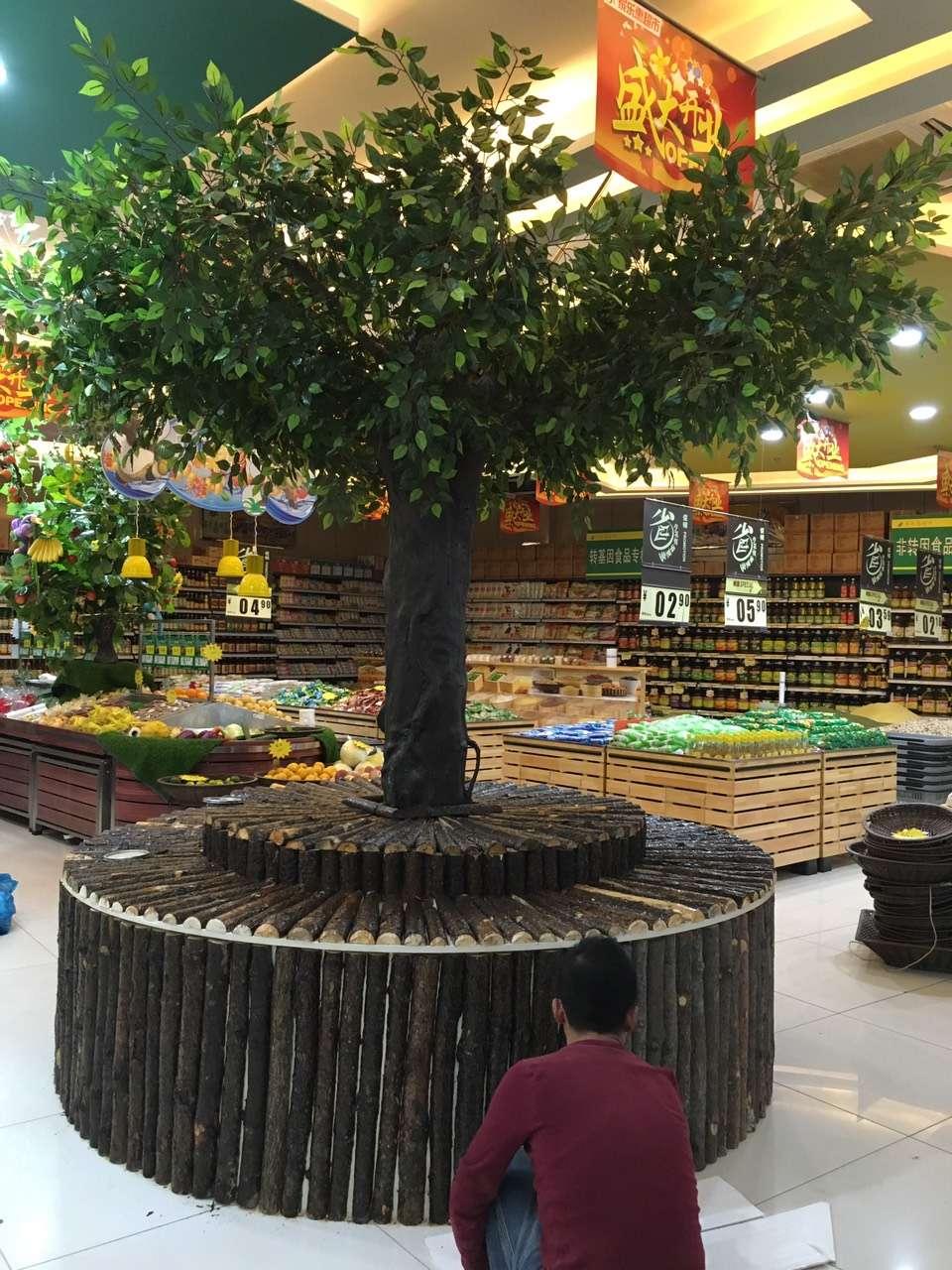 商场仿真榕树