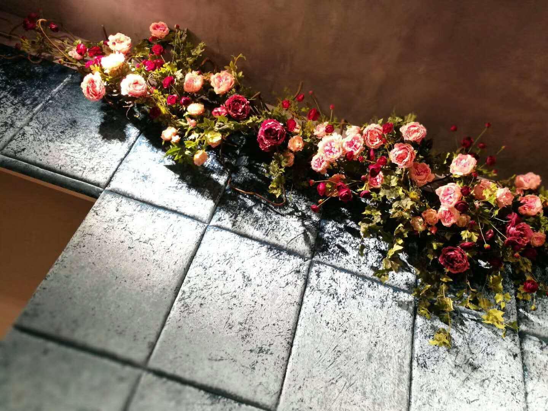 绿植墙花朵