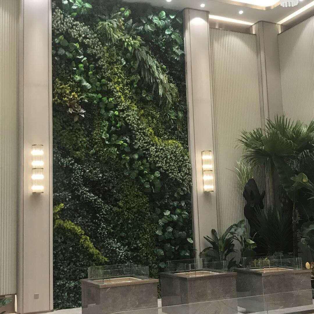 绿植墙背景