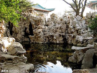 塑石假山水景
