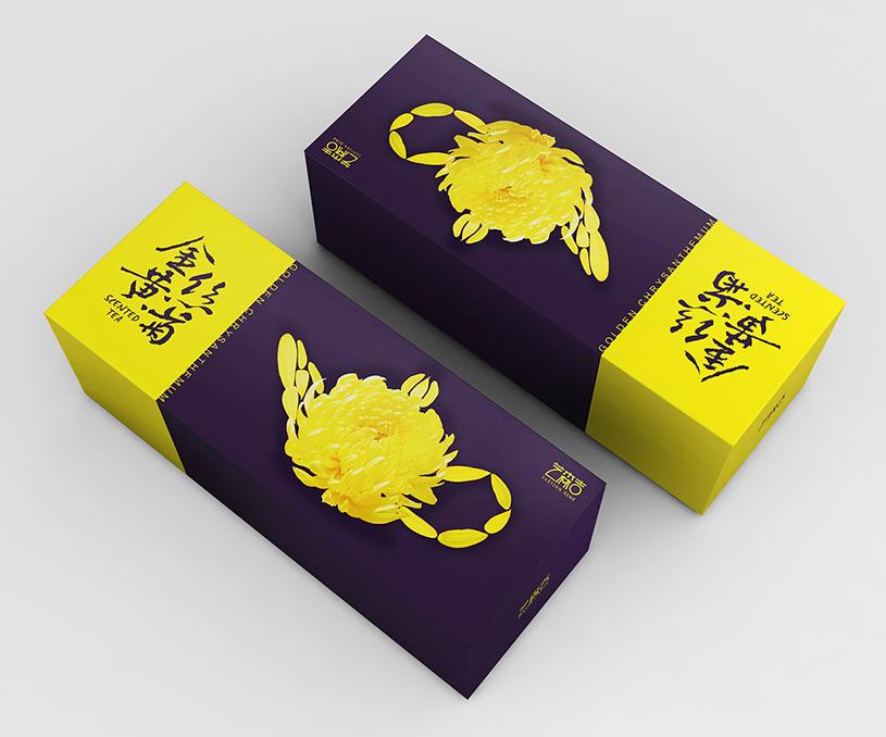 艺森吉-金丝黄菊花茶包装设计