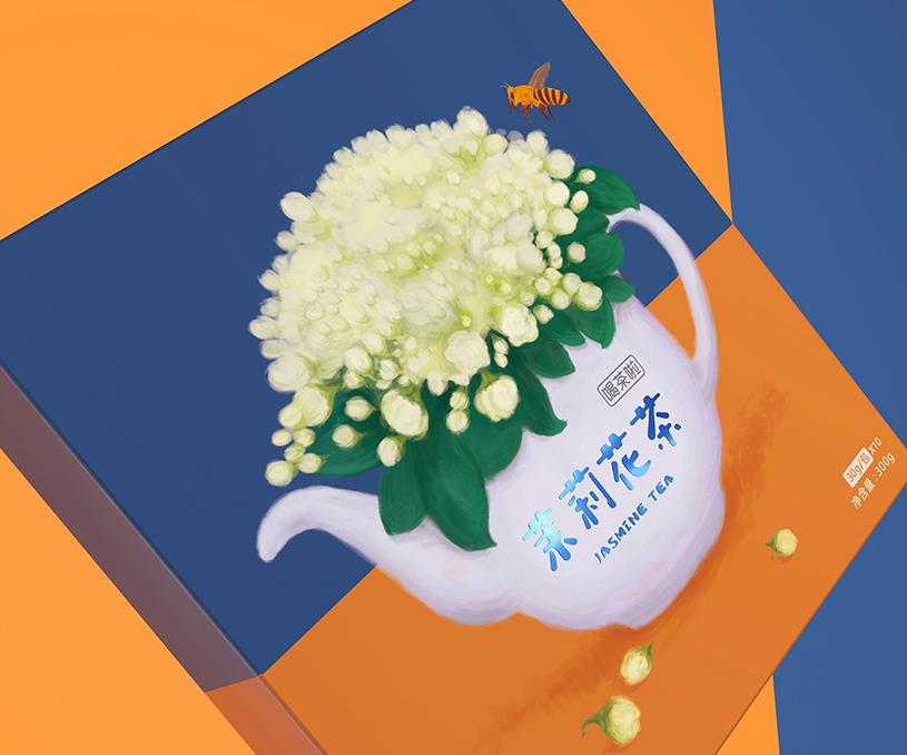喝茶啦系列花茶包装设计