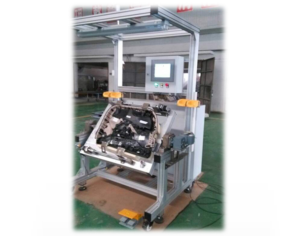 Door panel assembly welding machine