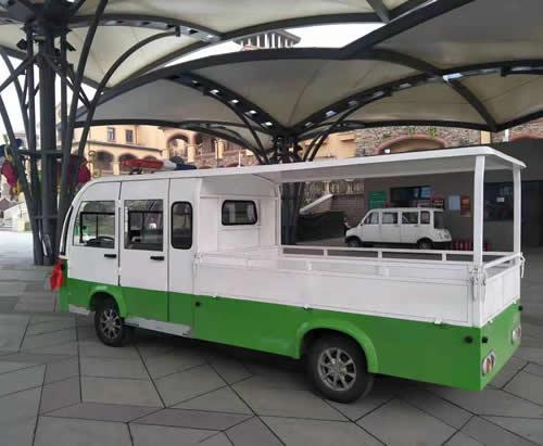 双排座厢式电动货车