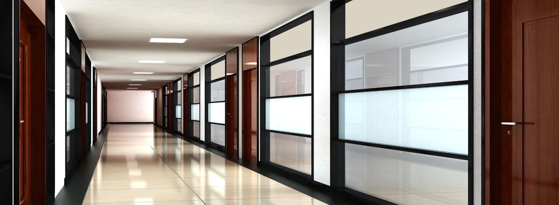 昆明办公室玻璃隔断使用中出现脏污现象应该怎么办?厂家教您这样做